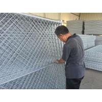 Wholesale 6 ft high cheap temporary chain link event fencing / construction chain link fence panel with cross brace from china suppliers