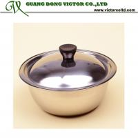 Buy cheap Wholesales Promotion Stainless steel bowl with lid 18cm 20cm 22cm 24cm 26cm 28cm 30cm 32cm from wholesalers