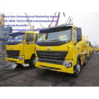 Wholesale EuroII Diesel Manual 2017 New Yellow color Sinotruk HOWO A7 Concrete Mixer Truck  with Italy pto and10tires 8cbm 6x4 from china suppliers