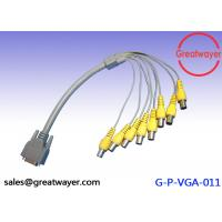 Quality Female Wire Harness Cable Connectors for CCTV System , VGA to 8BNC Video Graphics Array for sale