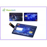Buy cheap Promotional Credit Card USB Storage Device Ultra Thin Credit Card Shaped Customized Logo from wholesalers