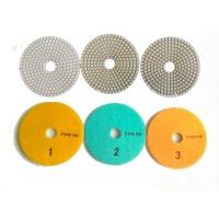 Wholesale White 3 Steps 4 Inch Wet Diamond Polishing Pads For Stone / Marble from china suppliers