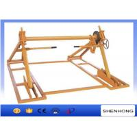 Wholesale 70KN Cable Drum Jacks With Disc Tension Brake / Cable Reel Jack Stands from china suppliers