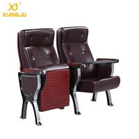Wholesale Aluminum Alloy plywood cover leather Auditorium Chairs with ABS Tablet  360° Turning from china suppliers