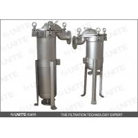 Wholesale SS304 / SS316L Upper Entry Single Bag Filter Housing With Painting / Sandblasting from china suppliers