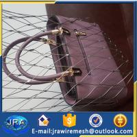 Quality ss304 Stainless steel Cable mesh for Bag/Anti-theft wire rope bag mesh for sale