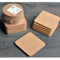 Wholesale High Quality Cork Coaster with silkscreen shrink wrapped packing, customized size is available from china suppliers