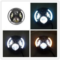 Wholesale 7 Inch Round Jeep Wrangler Headlights With Half Halo Ring Angel Eye from china suppliers