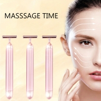 Wholesale 1.5V Home Use Anti Wrinkle Vibration T Shape 24k Beauty Bar from china suppliers