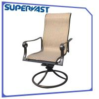 Wholesale Sling Outdoor Patio Dining Arm Chair Swivel Chair Stackable Dining Chair from china suppliers