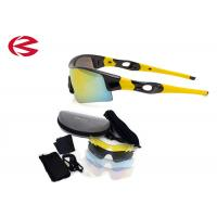 Quality Flexible Wrap Around Custom Logo Cycling Glasses With Non - slip Rubber Tip for sale
