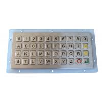 Wholesale IP 68 Water-proof And Dust-proof 40 Keys Mini Metal Keyboard / Keypad With Panel Mount For Out Door Use from china suppliers