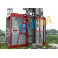 Wholesale Red Construction Material Hoist Single Cage , Electric Ladder Lift from china suppliers
