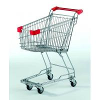 Wholesale Small Supermarket Shopping Cart  60L Metal Wire Basket Trolley With Wheels from china suppliers