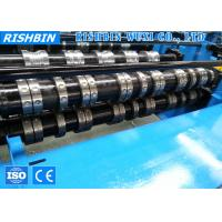 Wholesale 24 Stations Construction Roof Metal Deck Roll Forming Machine with Hydraulic Cutting from china suppliers