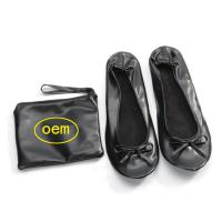 Wholesale Stock Foldable Ballet Flats for Wedding Receptions and Bridesmaid Gifts Fits in a Purse, New Christmas Gift from china suppliers