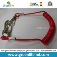 Wholesale Solid Red Spiral Coil Tool W/Hooks Tether 4mm Cord Dia from china suppliers