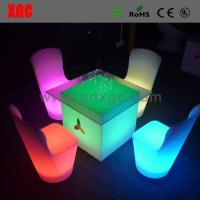 Wholesale Glowing banquet chair for hotel GF109 light furniture plastic Led furniture bar Chair from china suppliers
