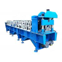 Steel Ridge Cap Roll Forming Machine , Metal Roofing Roll Former For Construction