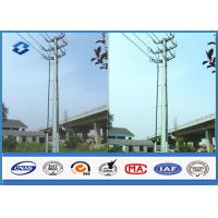 Quality Sub Electric overhead Transmission Electrical Power Pole in Dodecagonal Double Circuits 110KV for sale