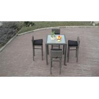 Wholesale Metal Frame Bistro / Pool Bar Set , Resin Wicker Patio Furniture from china suppliers