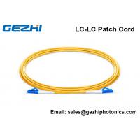 Quality Single Mode Fiber Patch Cable LC-LC Simplex 2.0mm PVC 9/125 Corning Fiber for sale