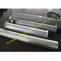 "Wholesale Galvanized Stainless Steel Perforated Pipe Large Diameter 1/4 -12"" Center Tube from china suppliers"