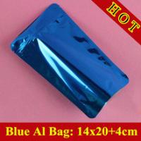 Wholesale Glossy Blue Self Standing Ziplock Pouch For Whey Protein Powder Packaging / Protein Powder Bag from china suppliers