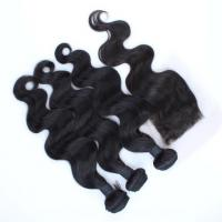 Wholesale Grade 8A Lace Frontal Closure with 3 Human Hair Bundles Brazilian Virgin Hair from china suppliers