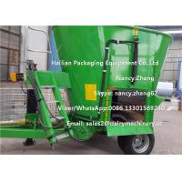 Wholesale Moving Dairy Cow Farms Vertical TMR Mixers With Heavy Duty Wheel from china suppliers