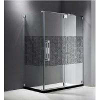 Wholesale Optic White Glass Shower Partition , Simple Tempered Glass For Hotel from china suppliers