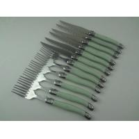 Wholesale le laguiole steak knife set with ABS handle 4.5inch blade  2.0mm blade from china suppliers