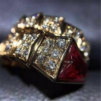 Wholesale Bvlgari serpenti series ring 18k white gold yellow gold rose gold diamond  ring from china suppliers