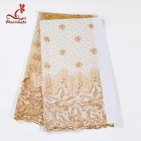 Wholesale Multi Color Tulle Mesh Embroidered Beaded Lace Fabric Light And Transparent Texture from china suppliers