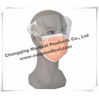 Wholesale Disposable Non - woven Pleated Medical Face Mask With Splash Shield / Visor from china suppliers