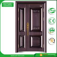Wholesale indian house main gate designs fancy steel doors single and half metal door leaf with copper handle from china suppliers