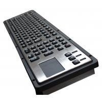 106 Keys IP65 Brushed Steel Liquid Proof Ruggedized Keyboard With Touchpad