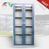 Wholesale KD  swing glass door steel cupboard with 4 adjust shelves,0.5-0.8 mm thinkness,RAL color from china suppliers
