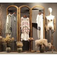 China Retail Store Clothing Display Furniture Wooden Cloth Hanger Stand Various Style on sale
