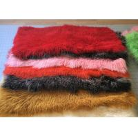 Wholesale Dyed Color Soft Skin Mongolian Sheepskin Rug 60 *120cm For Garment Shoes from china suppliers