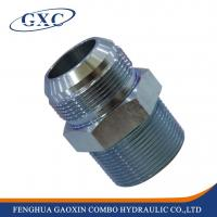 Wholesale 1JT Carbon steel JIC Male 74 degree Cone / BSPT Male Adapter Fitting from china suppliers