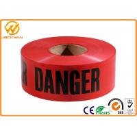 Wholesale PE Red Danger Safety Warning Adhesive Barrier Tape for Construction Site / Traffic accident area from china suppliers