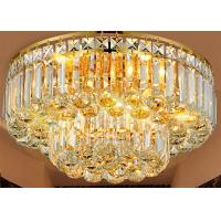 Wholesale Luxury K9 Golden Crystal Ceiling Lights Dinning Room Without Remote from china suppliers