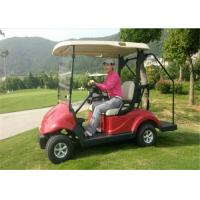 Wholesale Red Club 2 Seater Golf Carts , 48V 3 KW Battery Operated Electric Golf Cart CE Certificate from china suppliers
