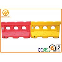 Wholesale Water Filled Plastic Traffic Barriers , Airports Flexible Portable Road Barriers from china suppliers