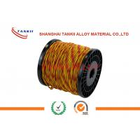 Buy cheap Type K Thermocouple extension wire 24 awg red and yellow wire for cable from wholesalers