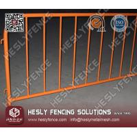 Wholesale Orange Color Powder Coated Crowd Control Pedestrian Barrier from china suppliers