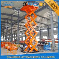 Wholesale 7M 2T Warehouse Cargo Loading Hydraulic Lift Platform Orange from china suppliers