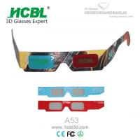 Wholesale Black Frame Customized Folding Paper 3d Glasses Red Blue With Full Logo Color from china suppliers