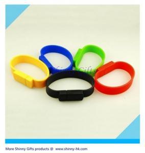 Wholesale Fashion Bracelet USB Flash Drive MOQ 100pcs logo imprint from china suppliers